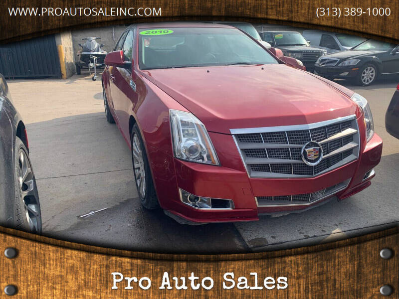 2010 Cadillac CTS for sale at Pro Auto Sales in Lincoln Park MI