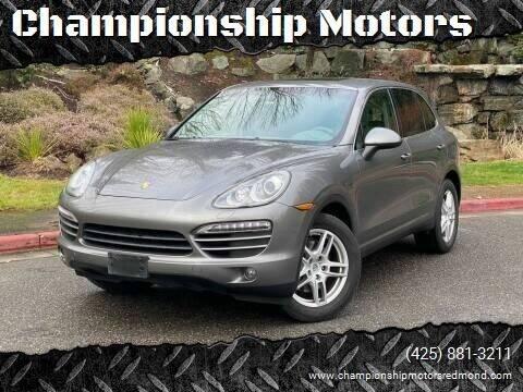 2011 Porsche Cayenne for sale at Mudarri Motorsports - Championship Motors in Redmond WA