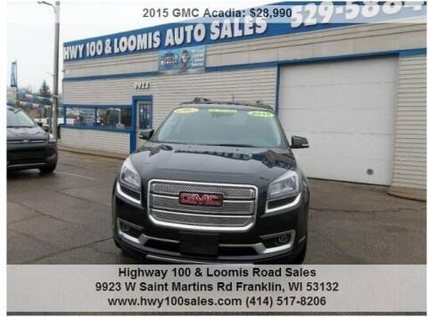 2015 GMC Acadia for sale at Highway 100 & Loomis Road Sales in Franklin WI