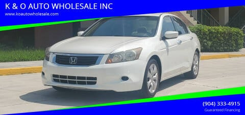 2010 Honda Accord for sale at K & O AUTO WHOLESALE INC in Jacksonville FL