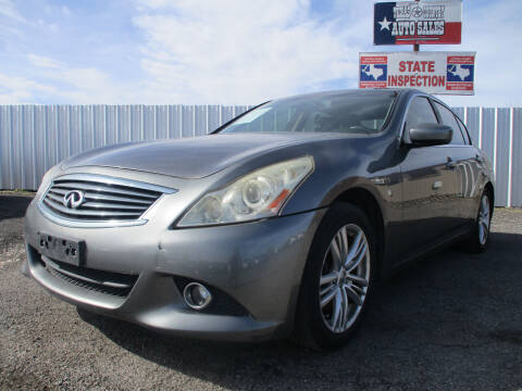 2011 Infiniti G25 Sedan for sale at Texas Country Auto Sales LLC in Austin TX