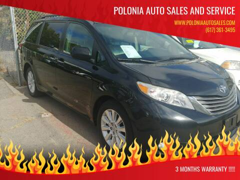 2011 Toyota Sienna for sale at Polonia Auto Sales and Service in Hyde Park MA