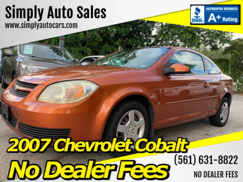 2007 Chevrolet Cobalt for sale at Simply Auto Sales in Palm Beach Gardens FL