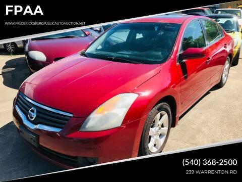 2008 Nissan Altima for sale at FPAA in Fredericksburg VA