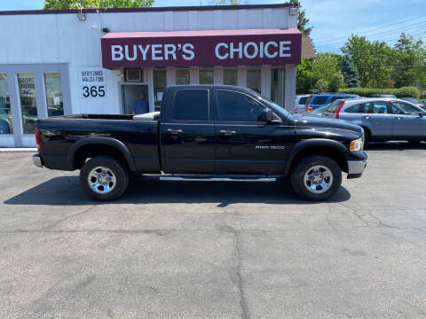2005 Dodge Ram Pickup 1500 for sale at Buyers Choice Auto Sales in Bedford OH