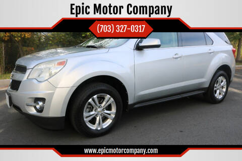 2012 Chevrolet Equinox for sale at Epic Motor Company in Chantilly VA