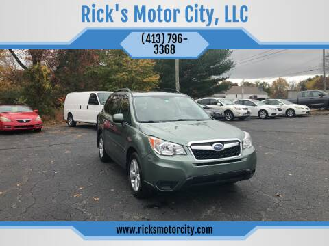 2015 Subaru Forester for sale at Rick's Motor City, LLC in Springfield MA