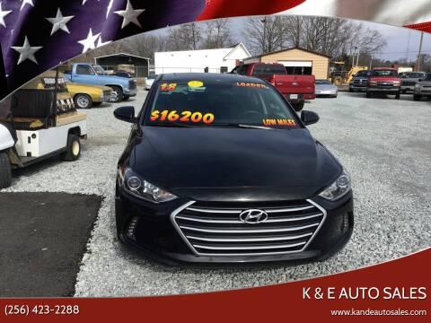 2018 Hyundai Elantra for sale at K & E Auto Sales in Ardmore AL