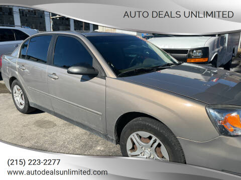 2007 Chevrolet Malibu for sale at AUTO DEALS UNLIMITED in Philadelphia PA