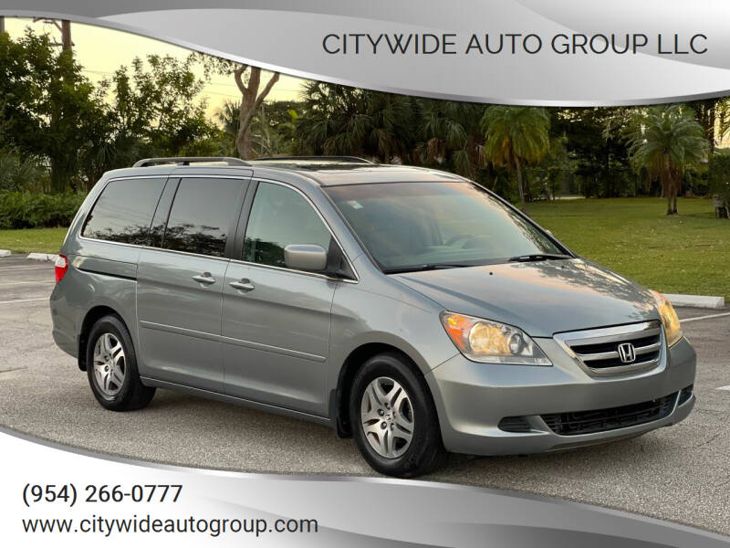2007 Honda Odyssey for sale at Citywide Auto Group LLC in Pompano Beach FL