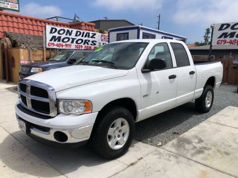 2004 Dodge Ram Pickup 1500 for sale at DON DIAZ MOTORS in San Diego CA