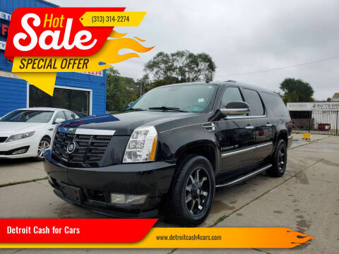2008 Cadillac Escalade ESV for sale at Detroit Cash for Cars in Warren MI