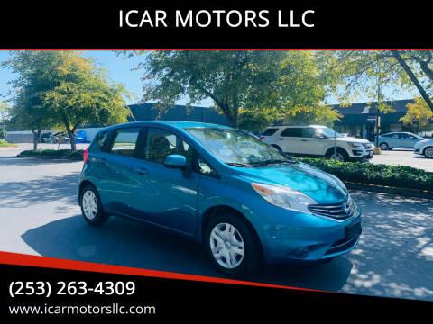 2014 Nissan Versa Note for sale at ICAR MOTORS LLC in Federal Way WA