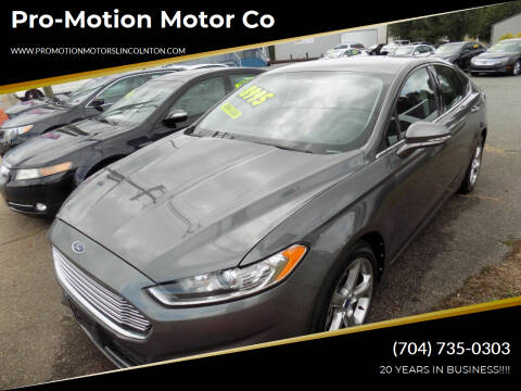 2013 Ford Fusion for sale at Pro-Motion Motor Co in Lincolnton NC