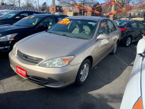 2002 Toyota Camry for sale at Metro Auto Exchange 2 in Linden NJ