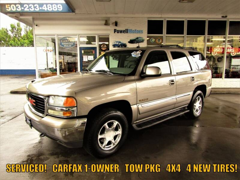 2002 GMC Yukon for sale at Powell Motors Inc in Portland OR