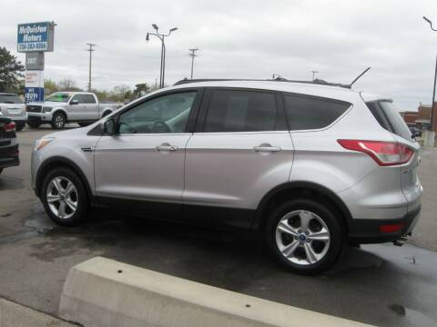 2013 Ford Escape for sale at MCQUISTON MOTORS in Wyandotte MI