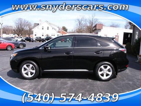 2012 Lexus RX 350 for sale at Snyders Auto Sales in Harrisonburg VA