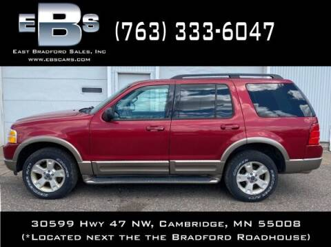 2003 Ford Explorer for sale at East Bradford Sales, Inc in Cambridge MN