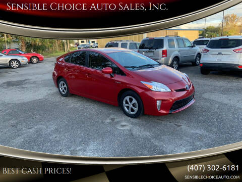 2012 Toyota Prius for sale at Sensible Choice Auto Sales, Inc. in Longwood FL