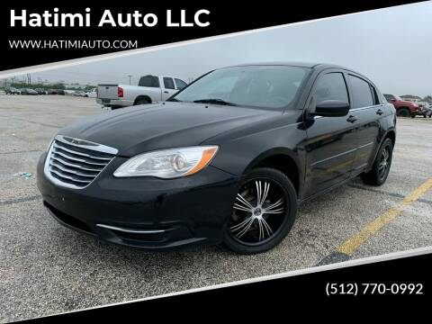 2012 Chrysler 200 for sale at Hatimi Auto LLC in Buda TX