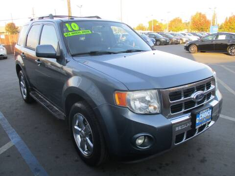2010 Ford Escape for sale at Choice Auto & Truck in Sacramento CA