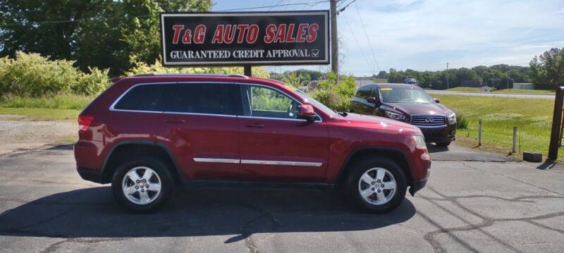2012 Jeep Grand Cherokee for sale at T & G Auto Sales in Florence AL
