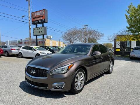 2015 Infiniti Q70 for sale at Autohaus of Greensboro in Greensboro NC