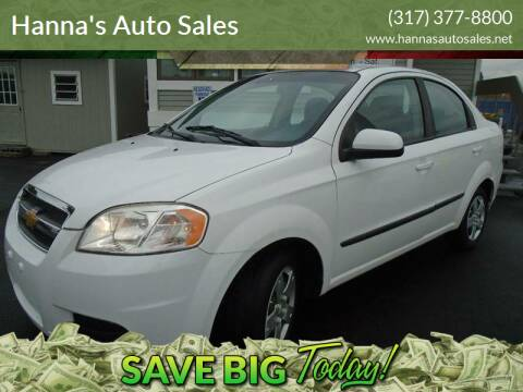 2011 Chevrolet Aveo for sale at Hanna's Auto Sales in Indianapolis IN