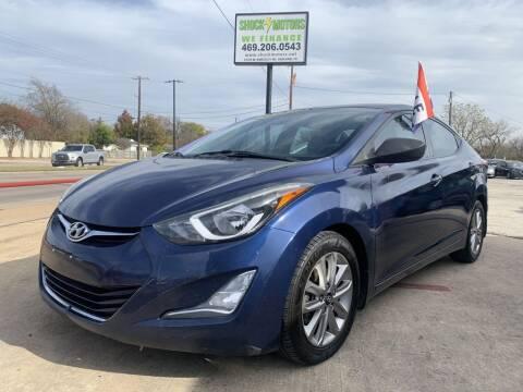 2015 Hyundai Elantra for sale at Shock Motors in Garland TX