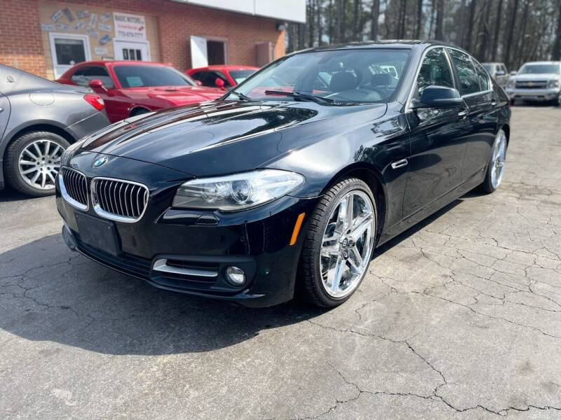 2015 BMW 5 Series for sale at Magic Motors Inc. in Snellville GA