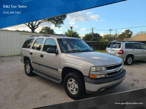 2005 Chevrolet Tahoe for sale at G&J Car Sales in Houston TX