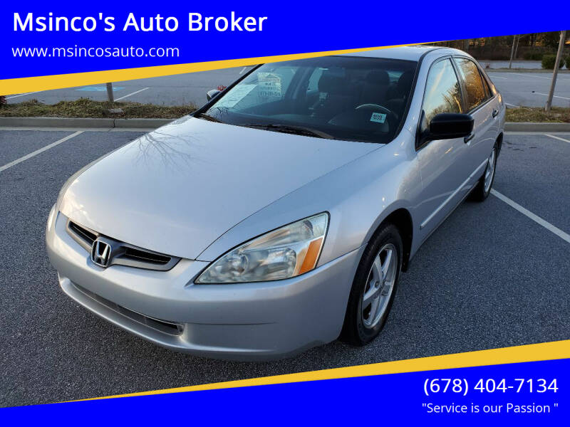 2004 Honda Accord for sale at Msinco's Auto Broker in Snellville GA