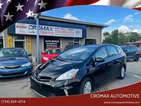 2012 Toyota Prius v for sale at Cromax Automotive in Ann Arbor MI