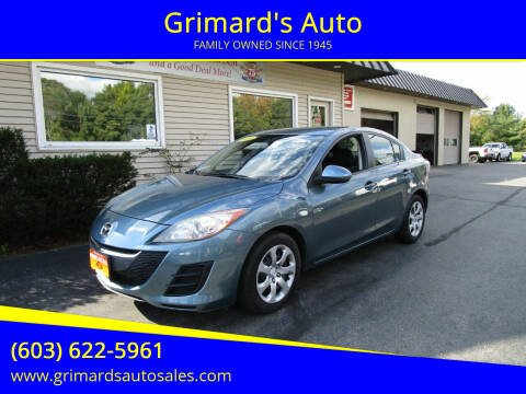 2010 Mazda MAZDA3 for sale at Grimard's Auto in Hooksett NH