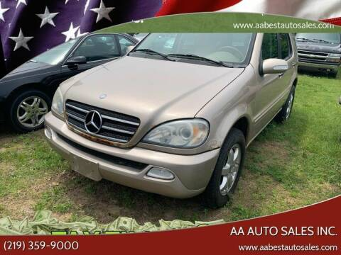 2004 Mercedes-Benz M-Class for sale at AA Auto Sales Inc. in Gary IN