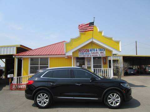 2016 Lincoln MKX for sale at Mission Auto & Truck Sales, Inc. in Mission TX