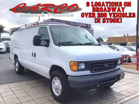 2007 Ford E-Series Cargo for sale at CARCO SALES & FINANCE #2 in Chula Vista CA