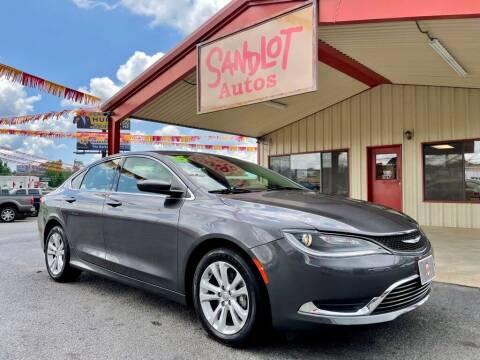 2015 Chrysler 200 for sale at Sandlot Autos in Tyler TX