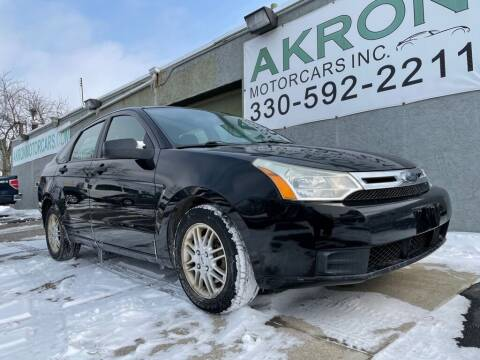2009 Ford Focus for sale at Akron Motorcars Inc. in Akron OH