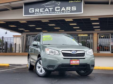 2015 Subaru Forester for sale at Great Cars in Sacramento CA