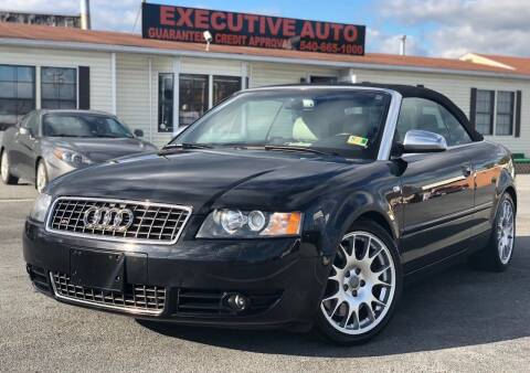 2006 Audi S4 for sale at Executive Auto in Winchester VA