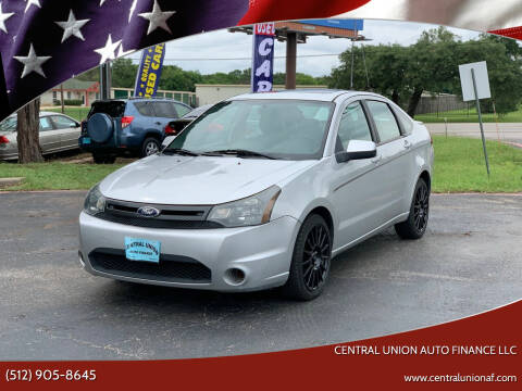 2011 Ford Focus for sale at Central Union Auto Finance LLC in Austin TX