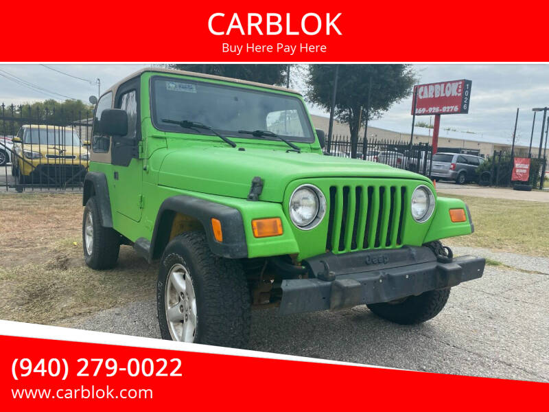 2005 Jeep Wrangler for sale at CARBLOK in Lewisville TX