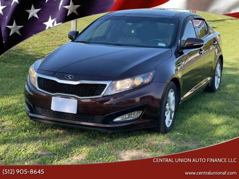 2013 Kia Optima for sale at Central Union Auto Finance LLC in Austin TX