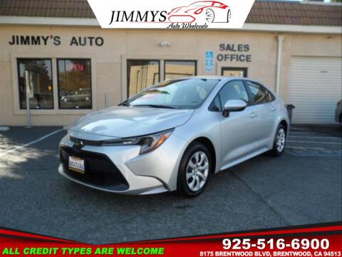 2020 Toyota Corolla for sale at JIMMY'S AUTO WHOLESALE in Brentwood CA