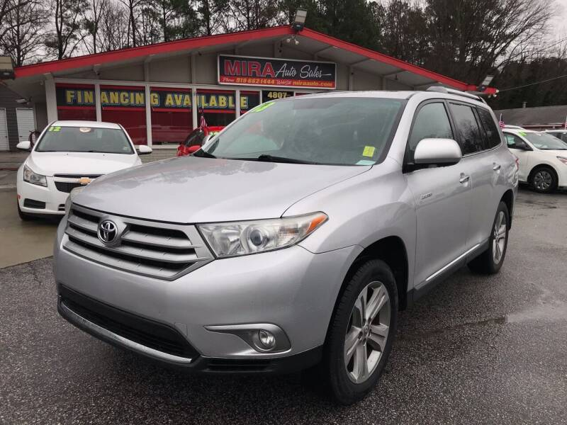 2013 Toyota Highlander for sale at Mira Auto Sales in Raleigh NC