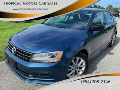 2015 Volkswagen Jetta for sale at Tropical Motors Car Sales in Deerfield Beach FL