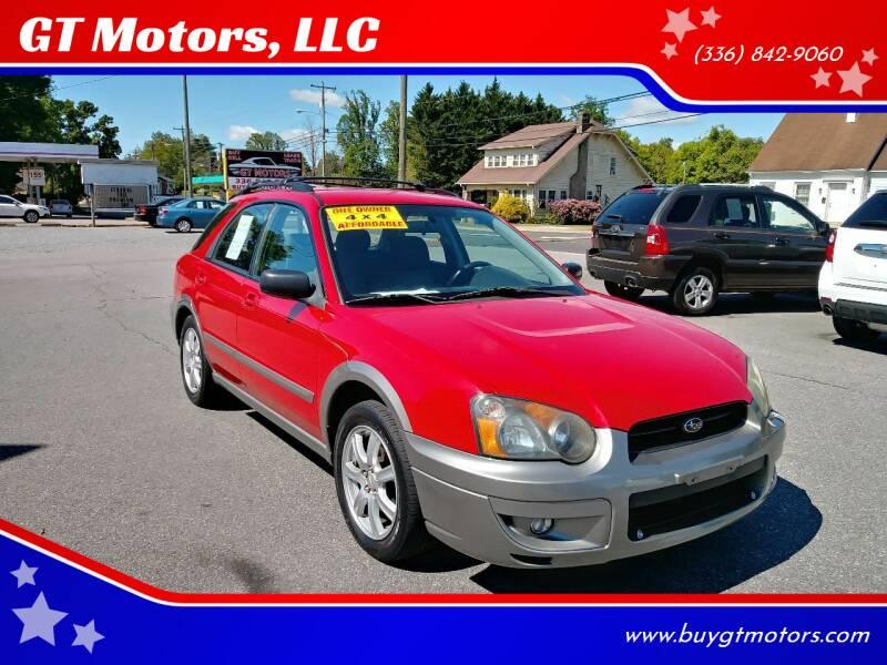 2005 Subaru Impreza for sale at GT Motors, LLC in Elkin NC