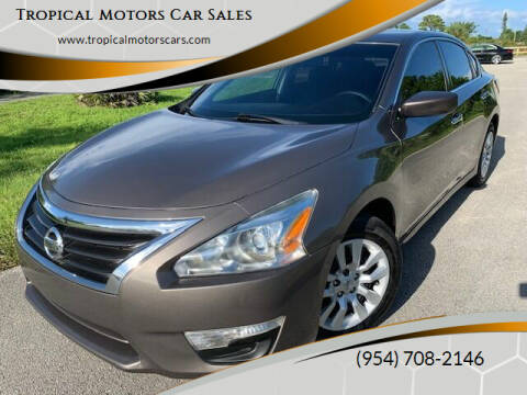 2015 Nissan Altima for sale at Tropical Motors Car Sales in Deerfield Beach FL